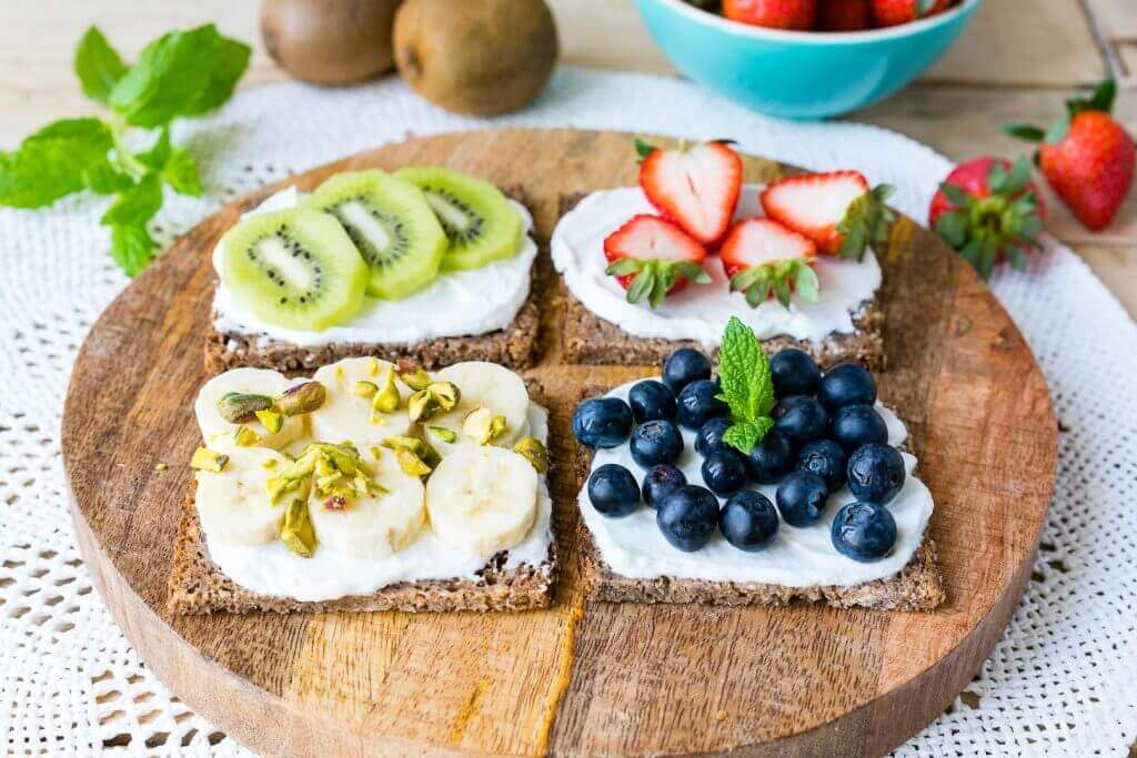 Healthy Breakfast Fruit Ricotta Toast
