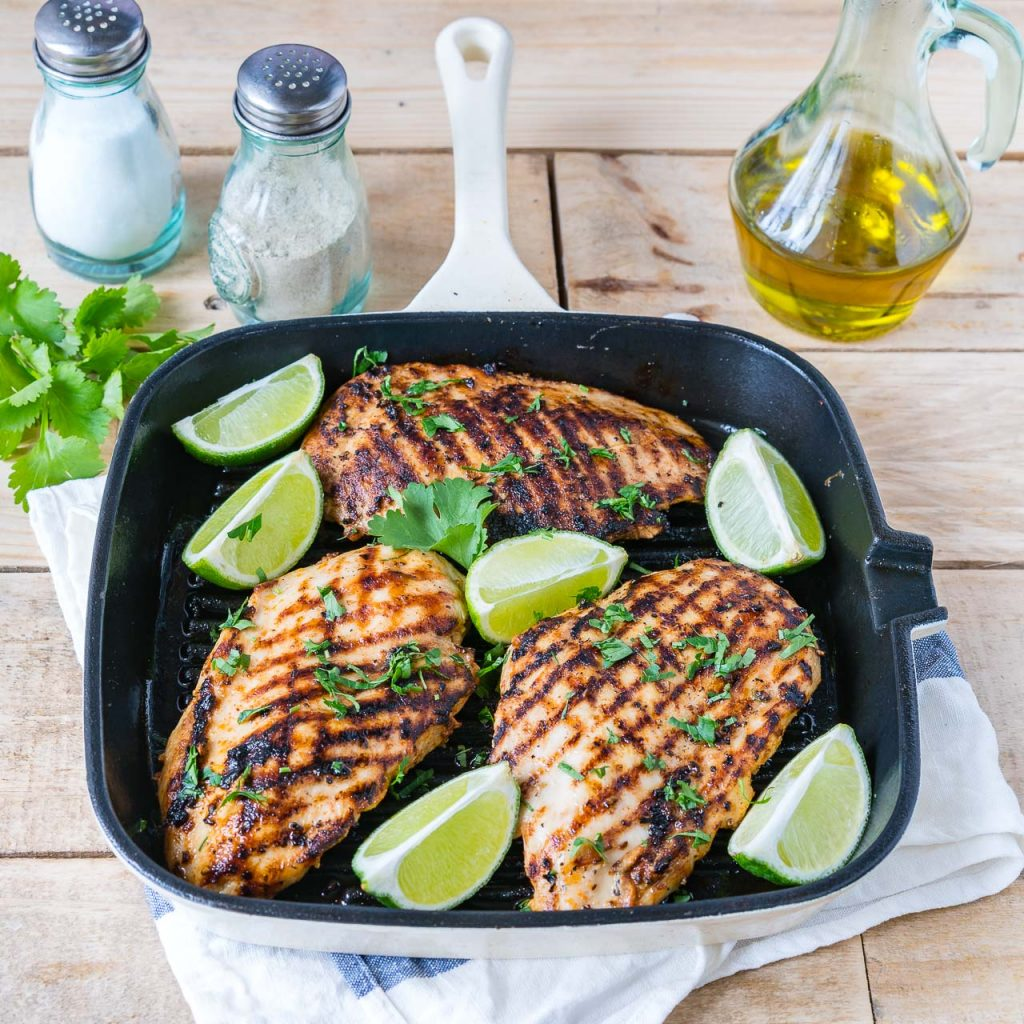 Grilled Taco Lime Chicken Instruction