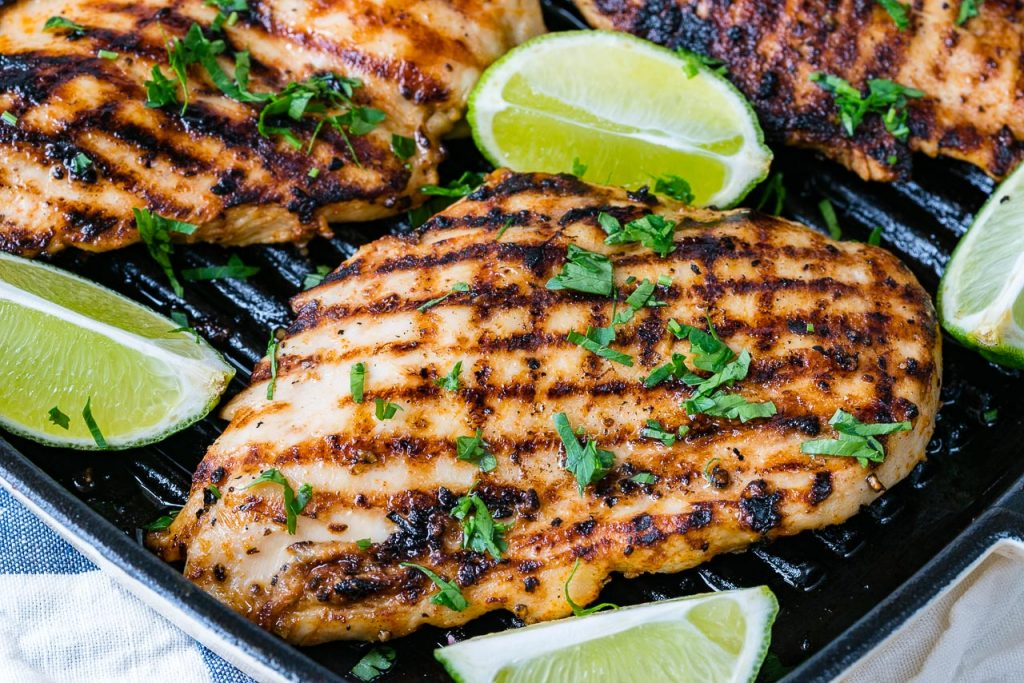 Grilled Taco and Lime Chicken for Tacos Recipe