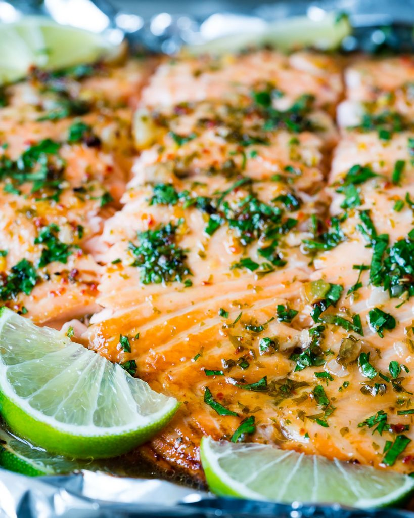 Healthy Honey Garlic Lime Salmon Recipe