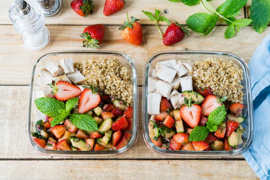 Roasted Chicken Strawberry Salsa Bowls Recipe