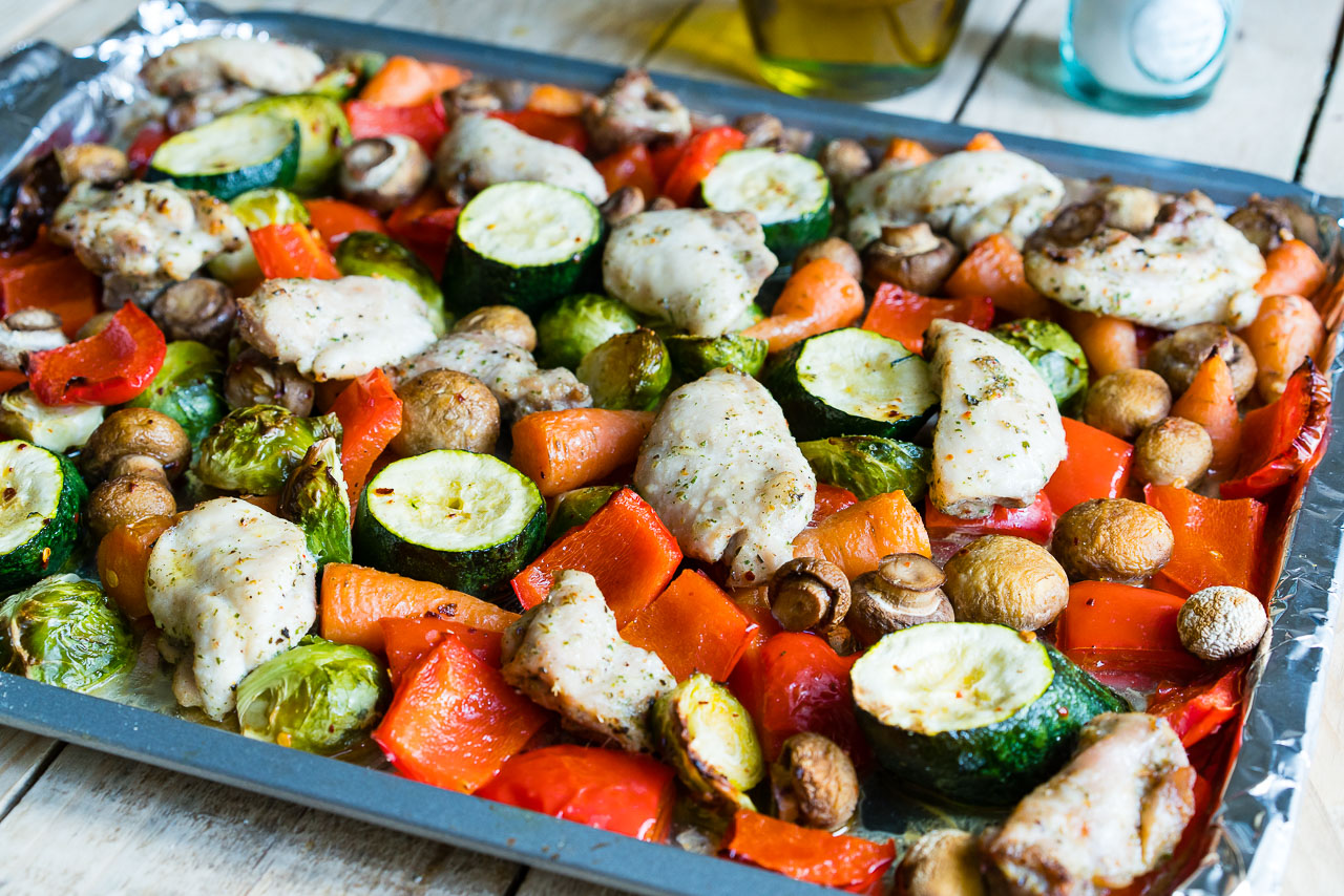 Sheet-Pan Italian Chicken + Roasted Veggies