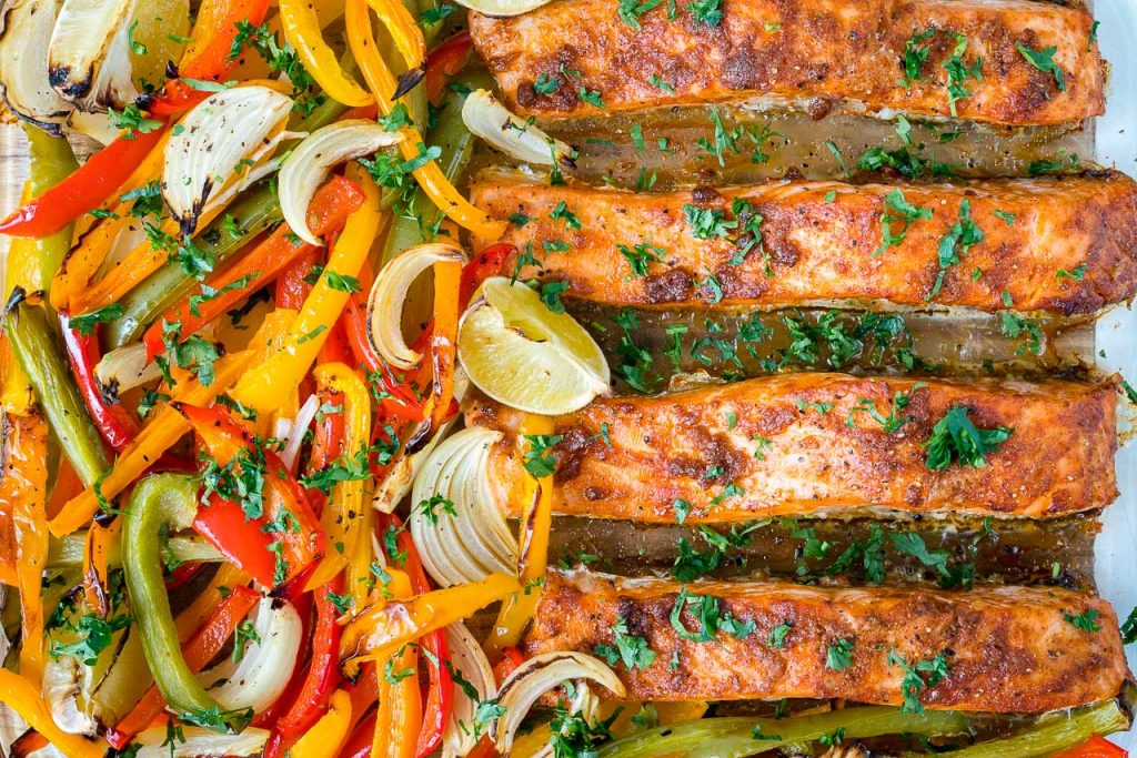Baked Salmon Fajitas Clean Recipe