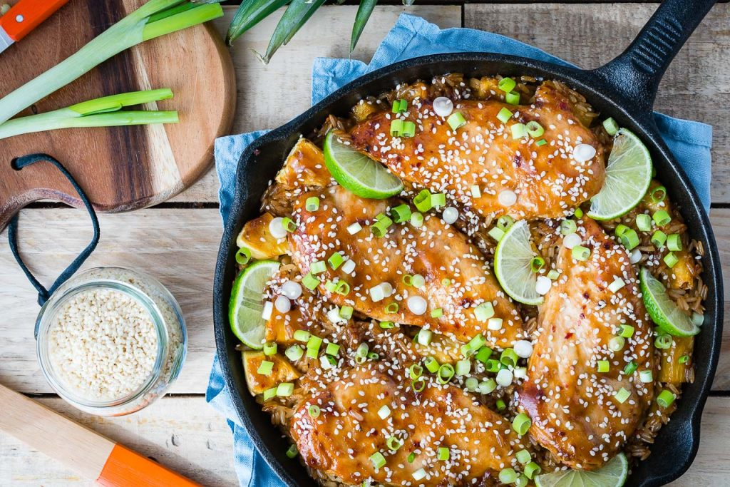 Flavorful Teriyaki Chicken Pineapple Rice Skillet