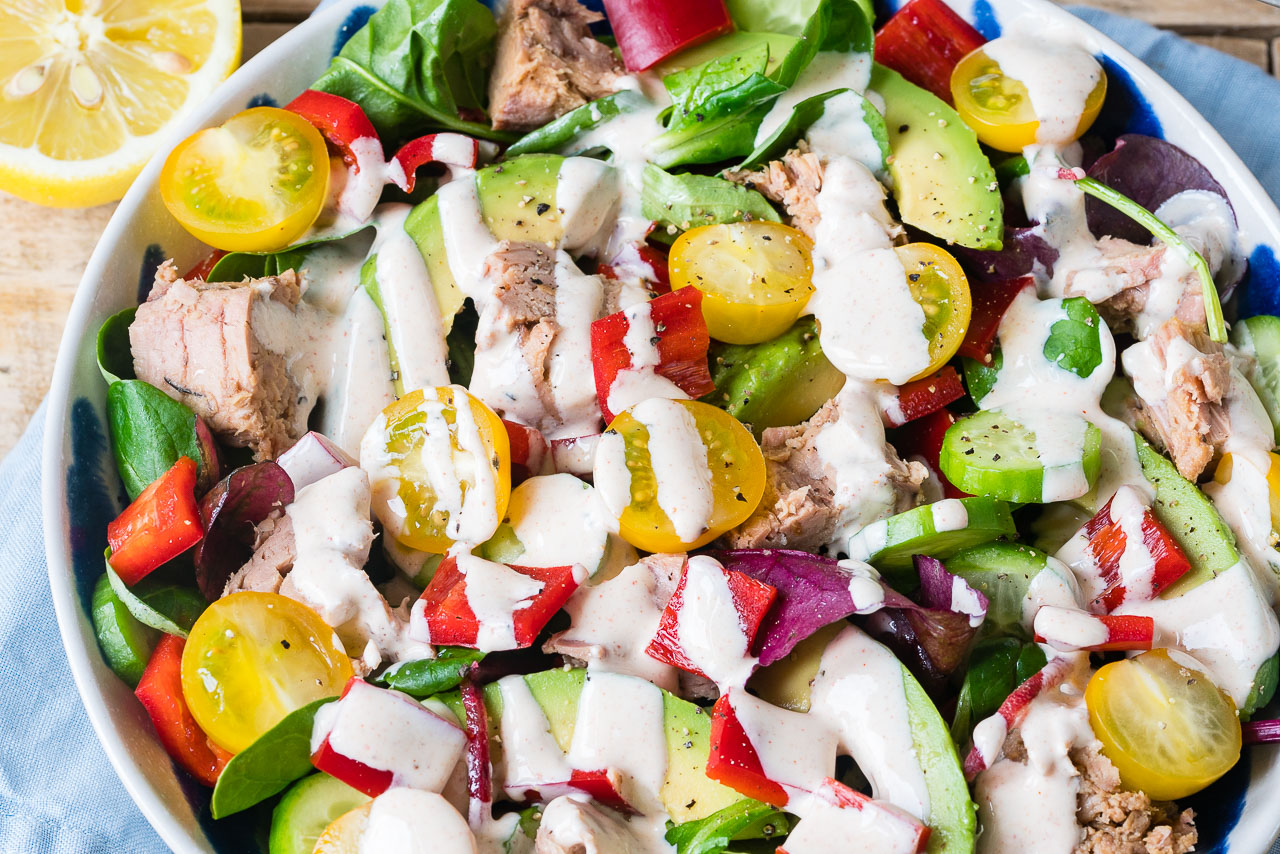Tuna Salad + Chipotle Dressing CleanFoodCrush Recipe