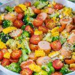 Broccoli + Sausage + Quinoa Skillet