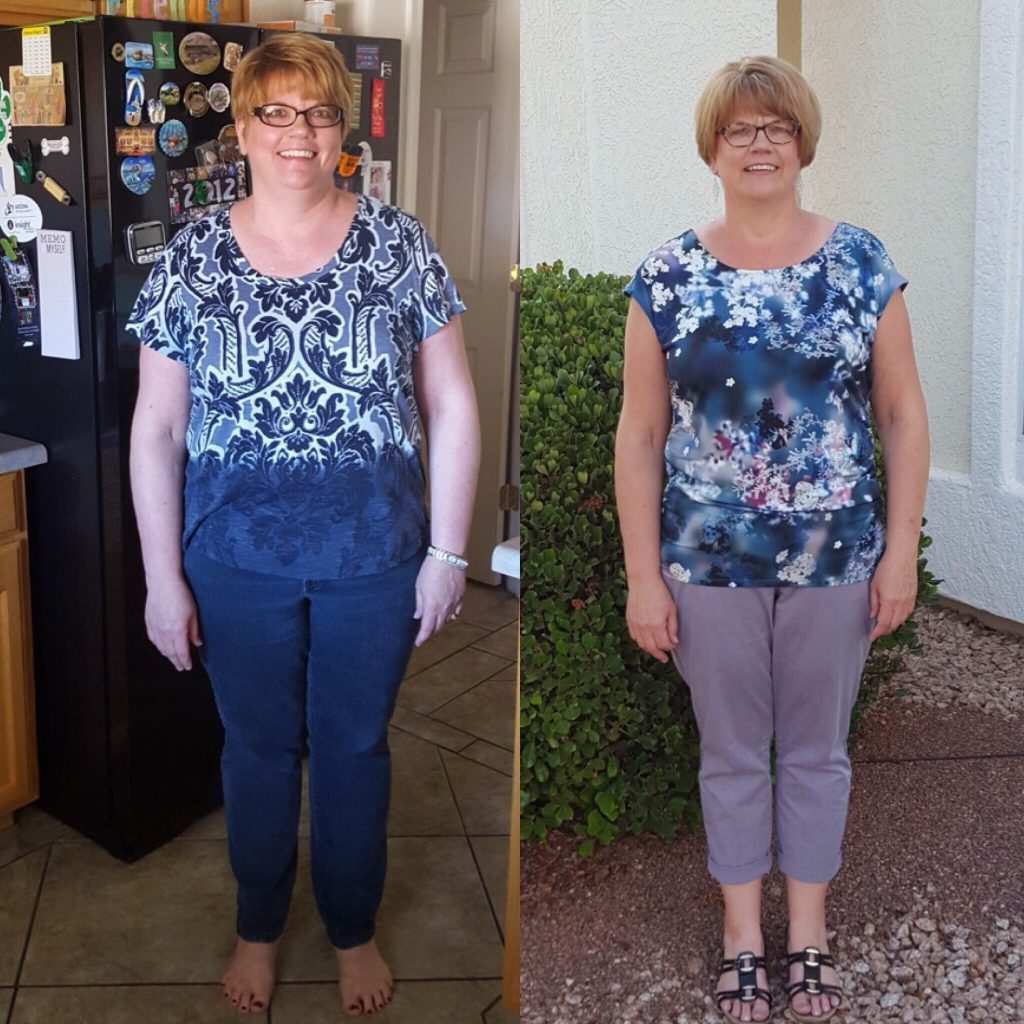 Carla Before After 30 Days of Eating Clean