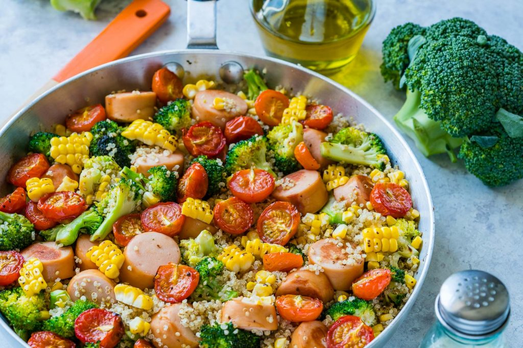Broccoli Sausage Quinoa Skillet Recipe
