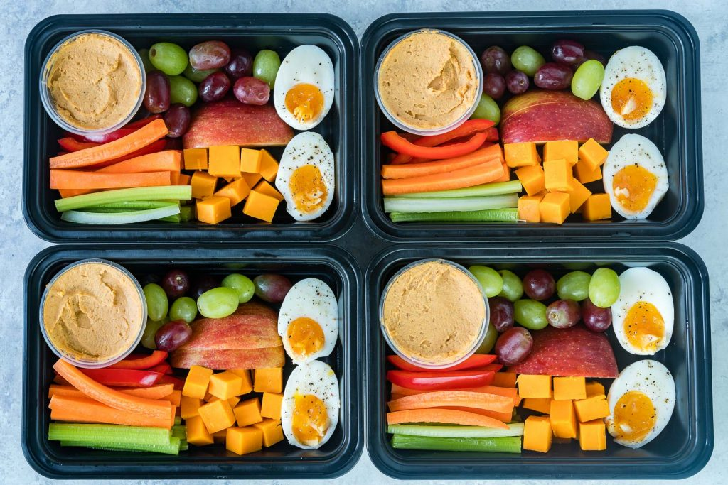 One of my favorite healthier on the go lunch or breakfast ideas is a Starbucks Protein Bistro Box. They recently updated it with even more protein by adding an extra hard boiled egg. They recently updated it with even more protein by adding an extra hard boiled egg.