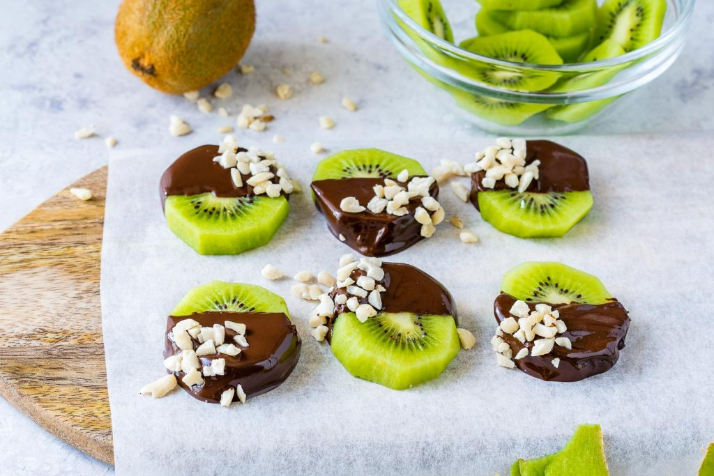 Chocolate Dipped Kiwi Slices Fun Dessert