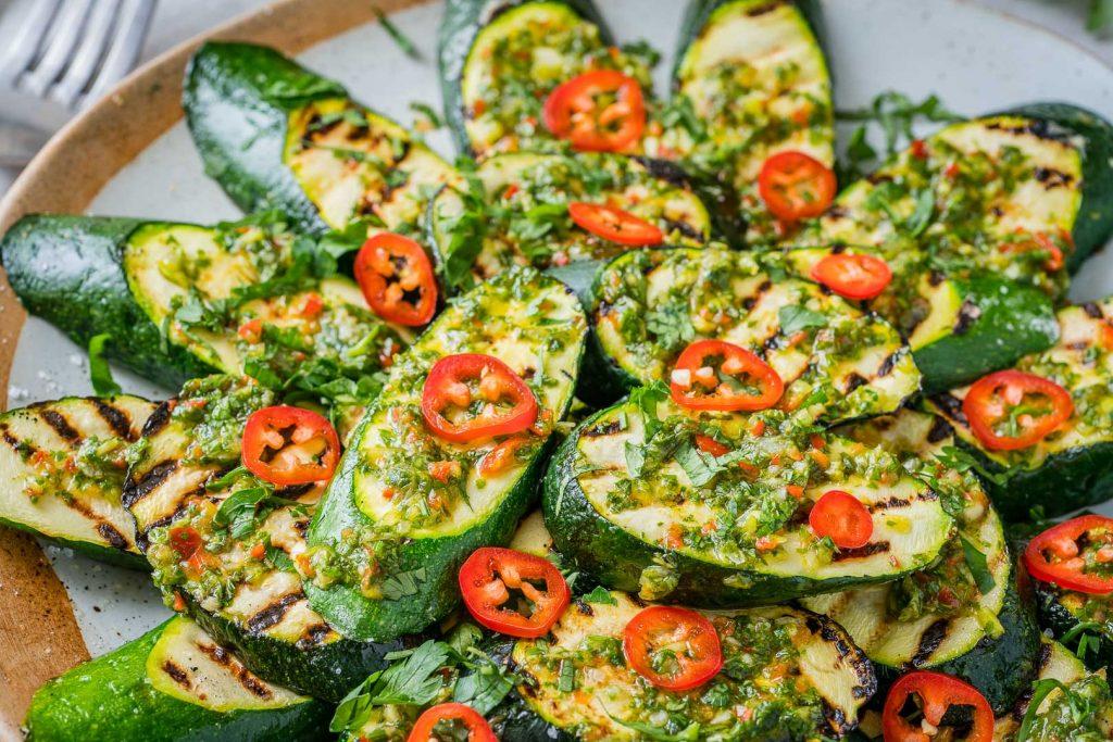 CleanFoodCrush Grilled Fresh Zucchini with Chimichurri