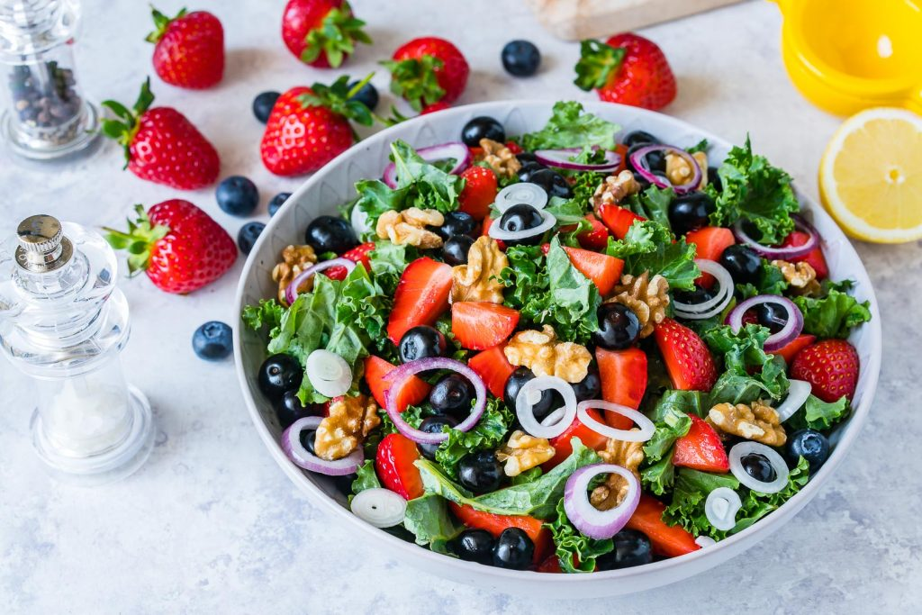 Kale Berry Salad and Citrus Vinaigrette