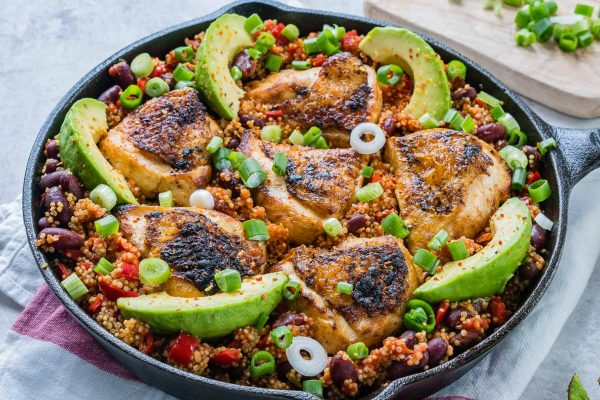Weeknight Skillet Spicy Mexican Chicken Quinoa For The Whole Family Clean Food Crush