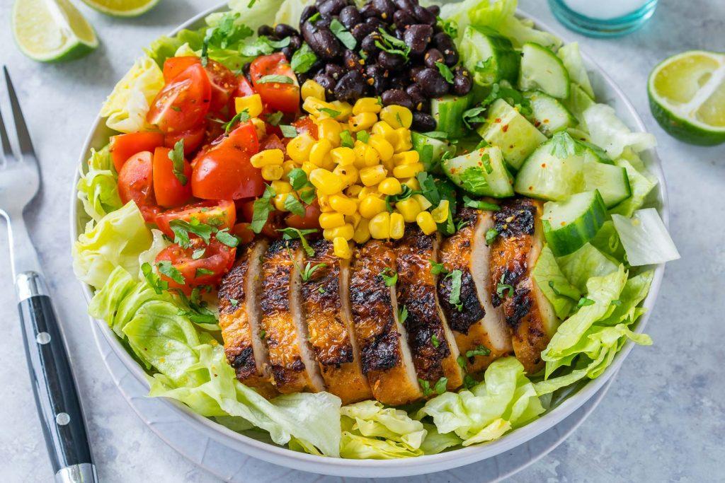 Taco Salad + Homemade Lime-Cilantro Dressing Recipe