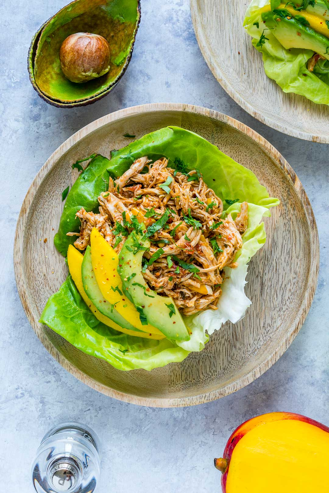 Jamaican Pulled Chicken Lettuce Wraps Dinner Idea