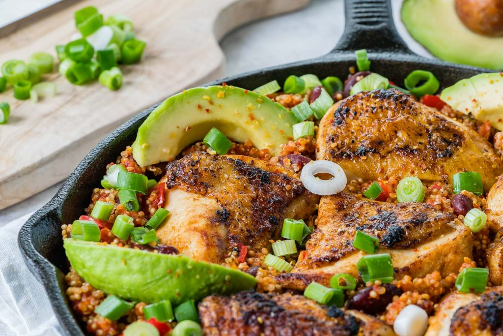 Clean Spicy Mexican Chicken Quinoa