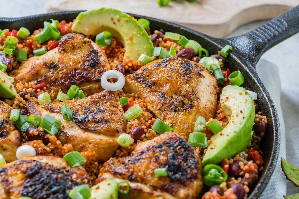 Healthy Spicy Mexican Chicken Quinoa