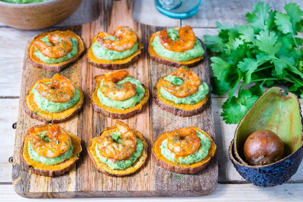 Spicy Shrimp Guacamole Crisps Recipe