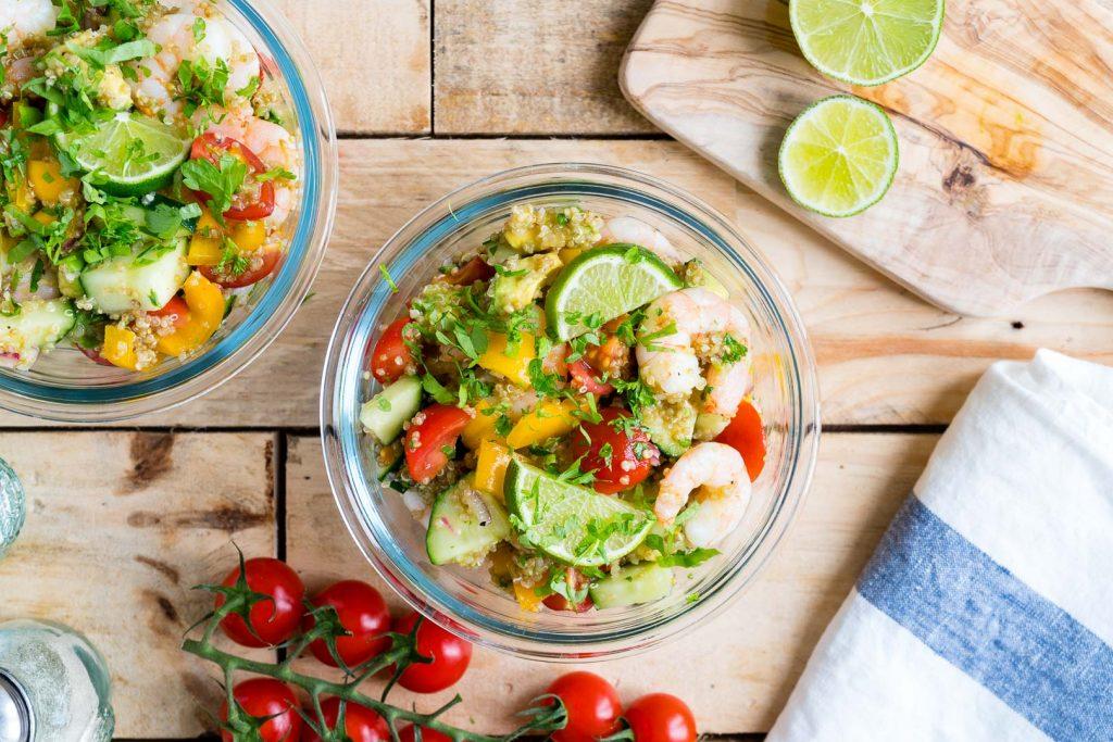 Lemony Shrimp + Quinoa Salad