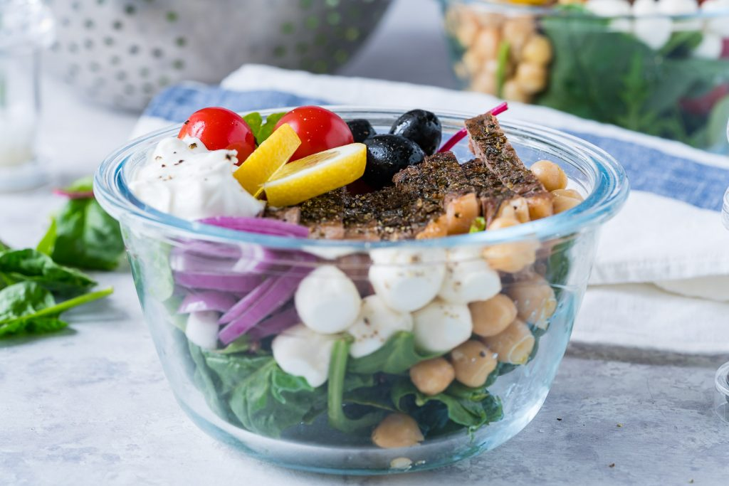 Mediterranean Steak Salad Bowls