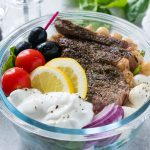 Mediterranean Steak Salad Bowls CleanFoodCrush