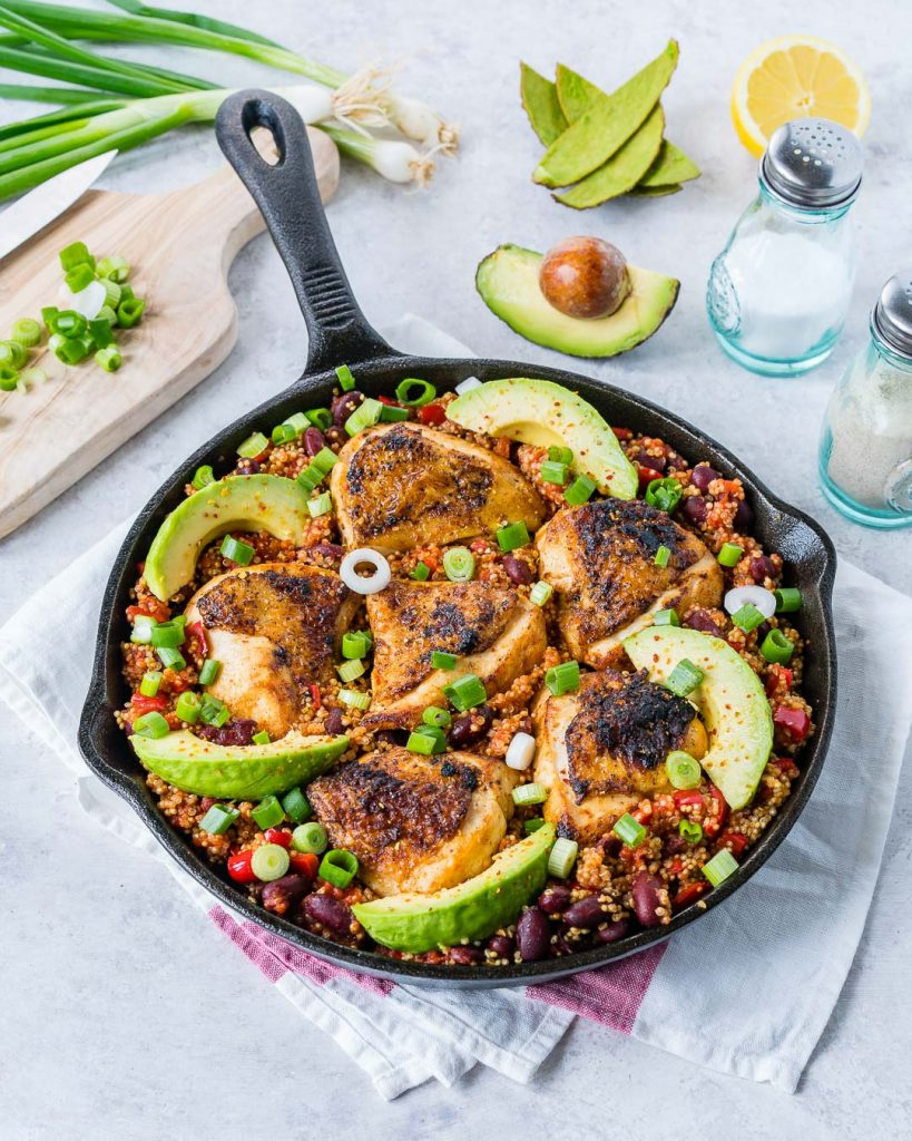 Spicy Mexican Chicken Quinoa Family Dinner Meal