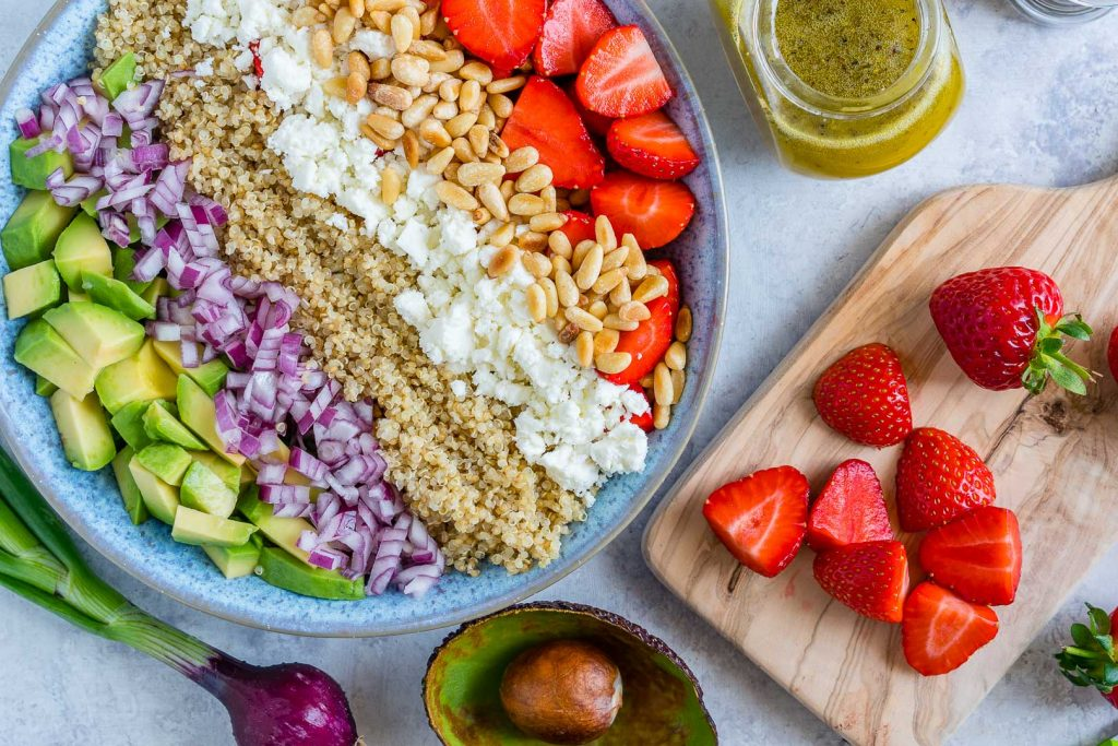 Strawberry Avocado Quinoa Salad Meal