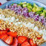 Strawberry Avocado Quinoa Salad + Honey-Lime Dressing CleanFoodCrush