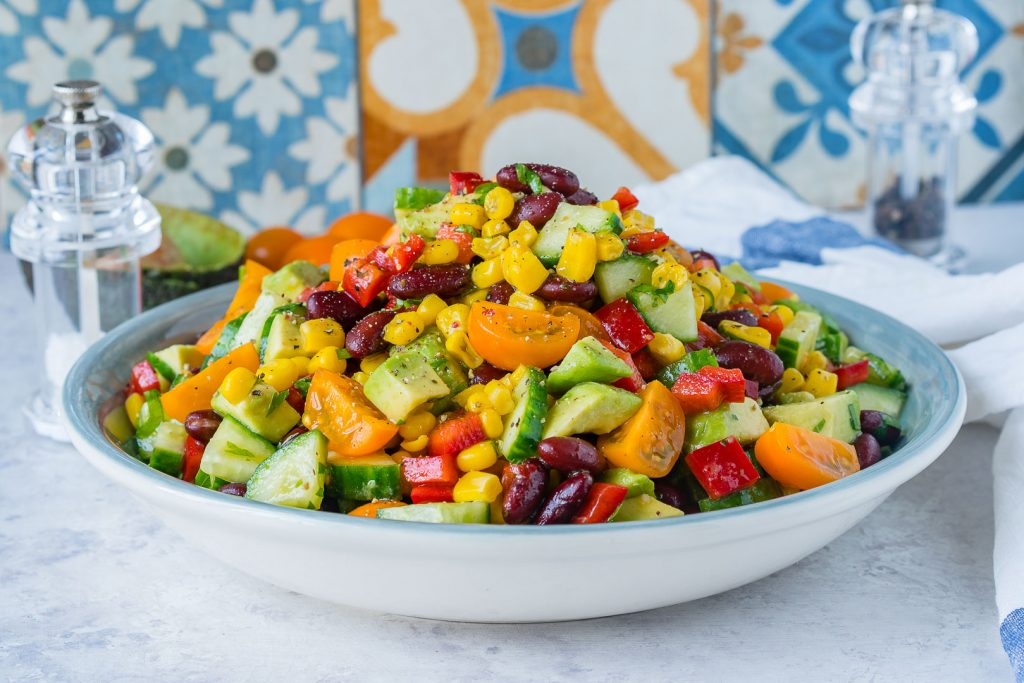 Super Healthy Quick Sweet Spicy Summer Salad