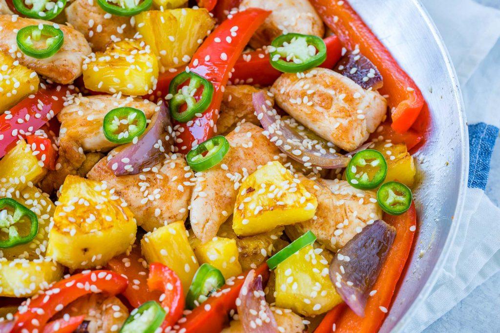 Sweet-N-Spicy Pineapple Chicken Skillet Recipe