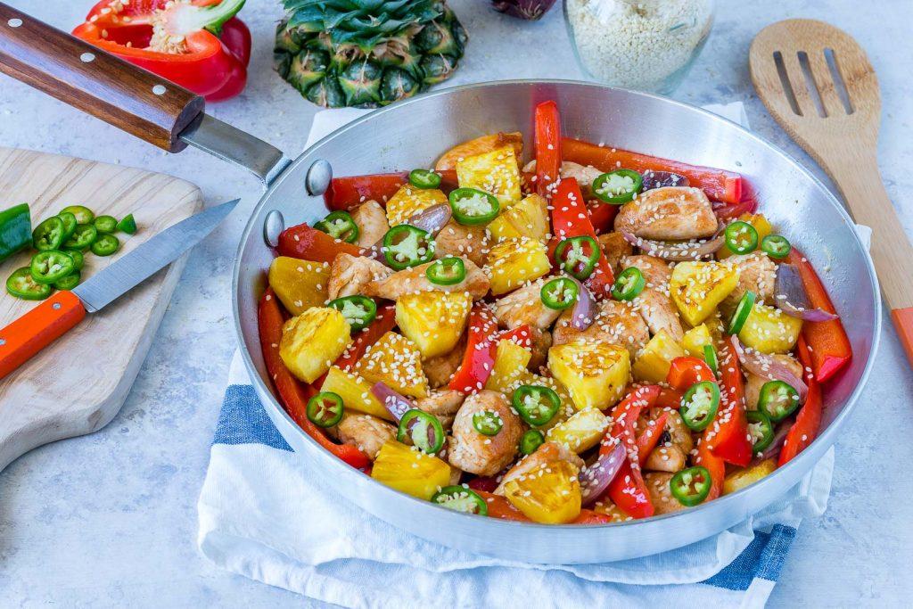 Sweet chili chicken skillet Recipe