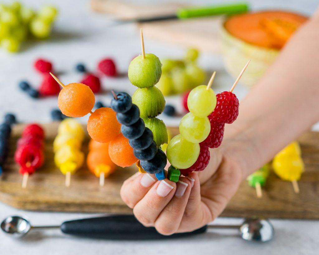 Clean Eating Fresh Fruit Kabobs