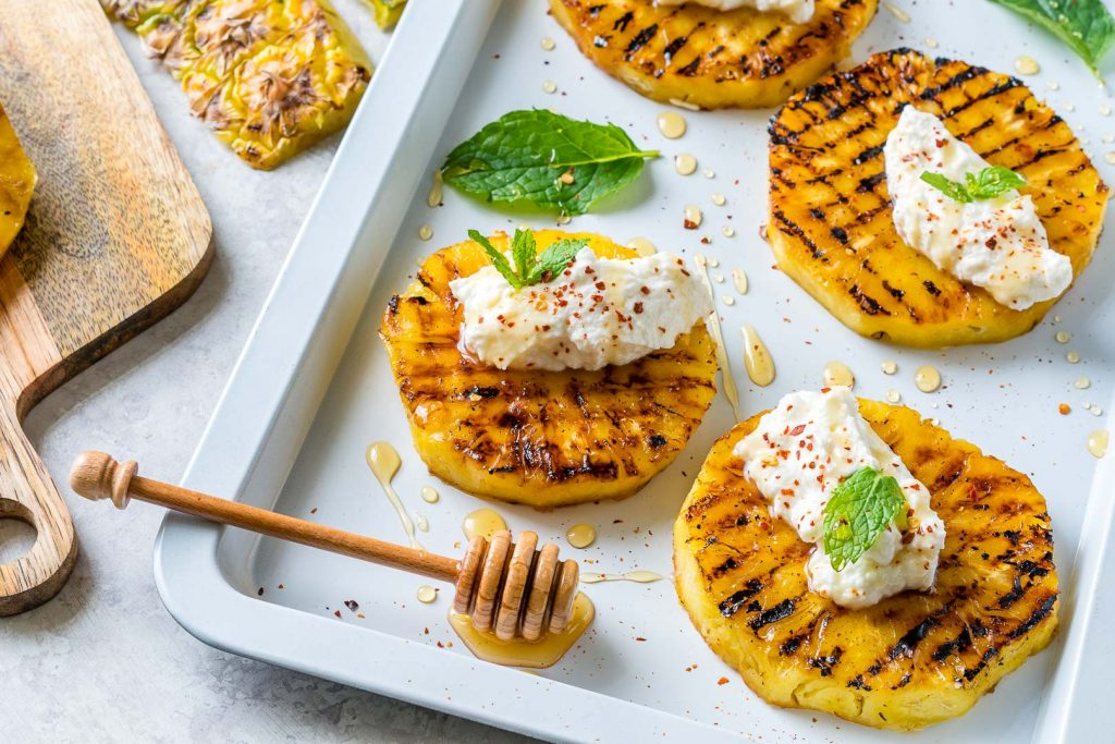 Grilled Pineapple with Ricotta Honey Recipe