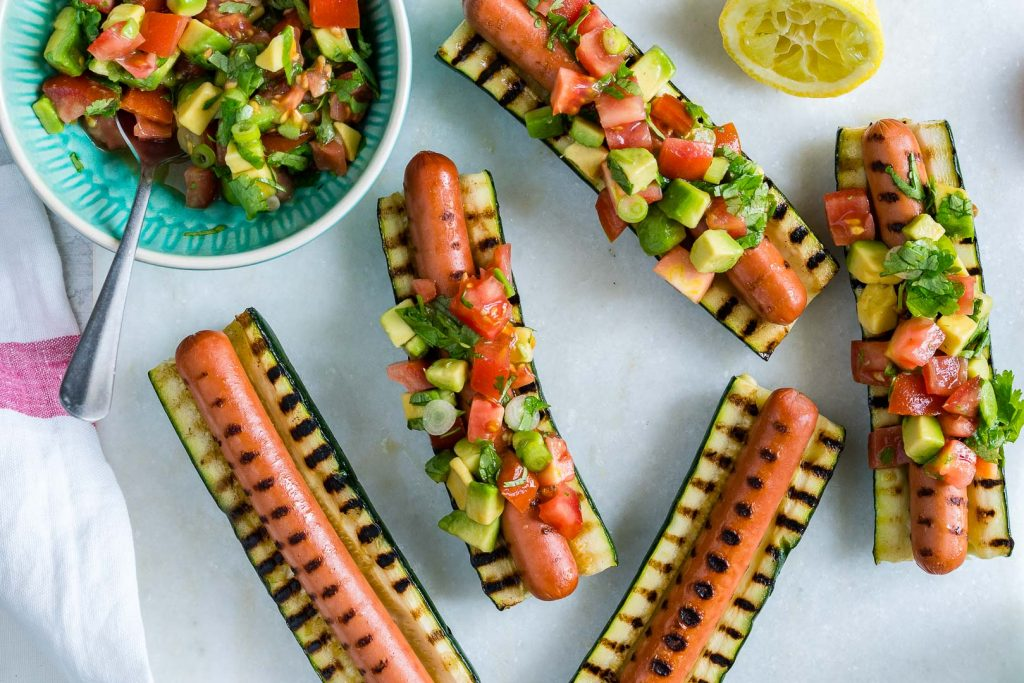 Grilled Zucchini Hot Dog Boats Recipe