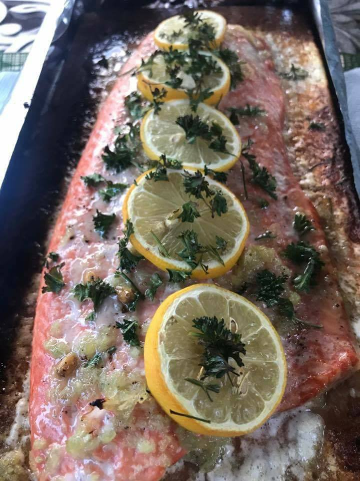 Clean Eating Lemon Garlic Salmon on the Grill