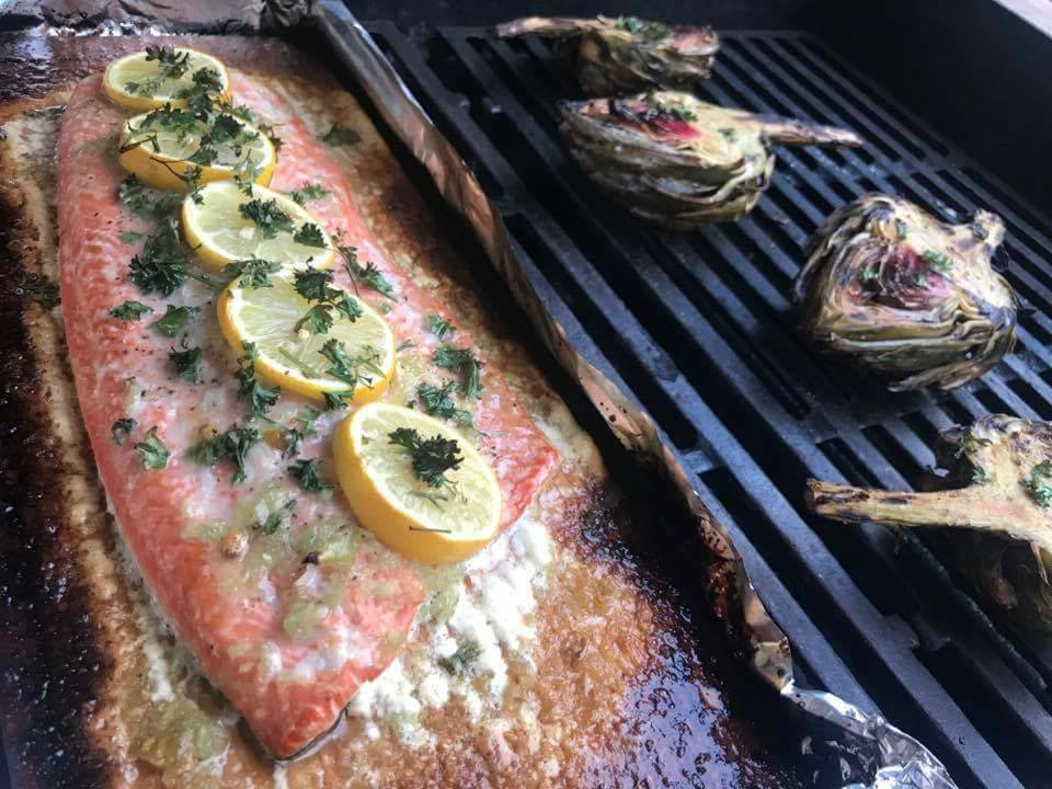 Lemon Garlic Salmon on the Grill Recipe