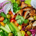 CleanFoodCrush Chicken + Crisp Cucumber Salad w: Creamy Avocado Dressing