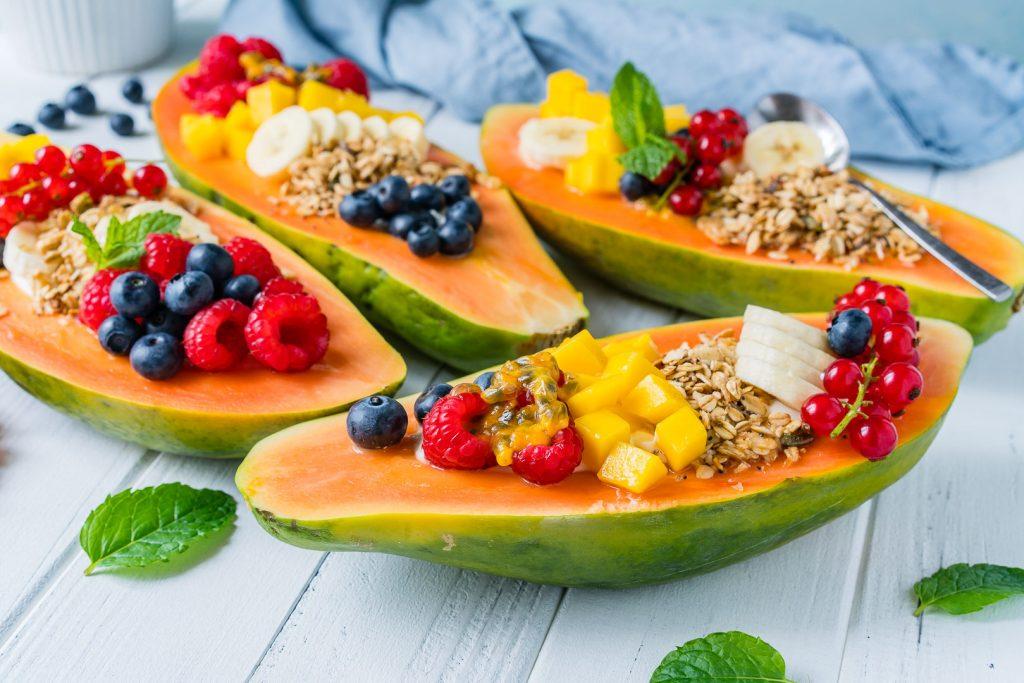 Creative Breakfast Papaya Boats Instructions