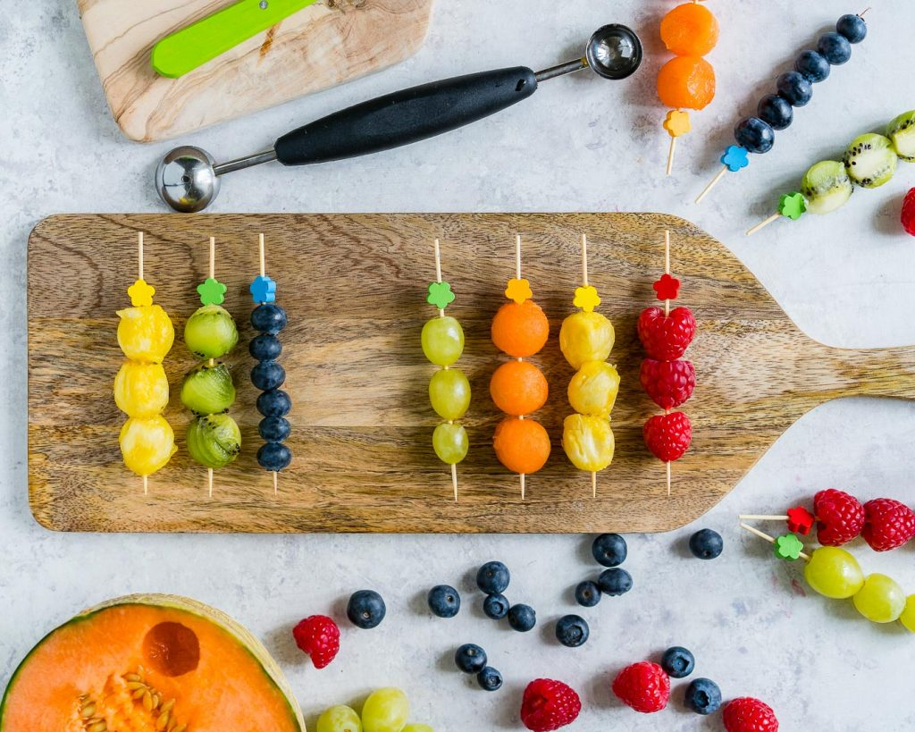Healthy and Creative Fruit Kebobs