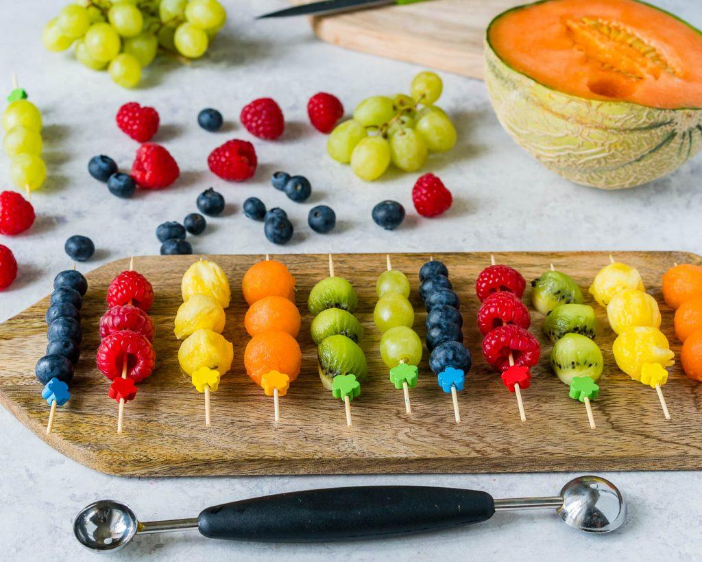Fresh Fruit Kebobs Recipe Instructions