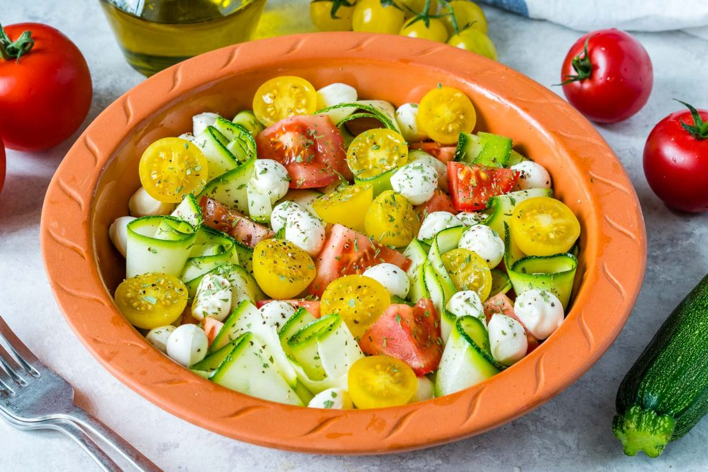 Eat Clean Fresh Summertime Zucchini Caprese
