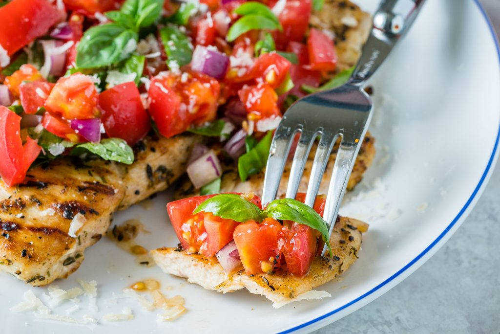 Eat Clean Grilled Chicken Bruschetta