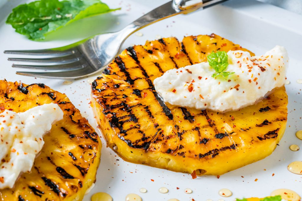 Grilled Pineapple with Ricotta Honey Preparation