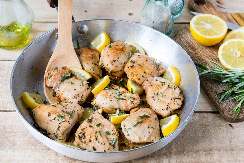 Eat Clean Lemon Garlic Chicken Thighs