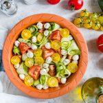 Fresh Summertime Zucchini Caprese