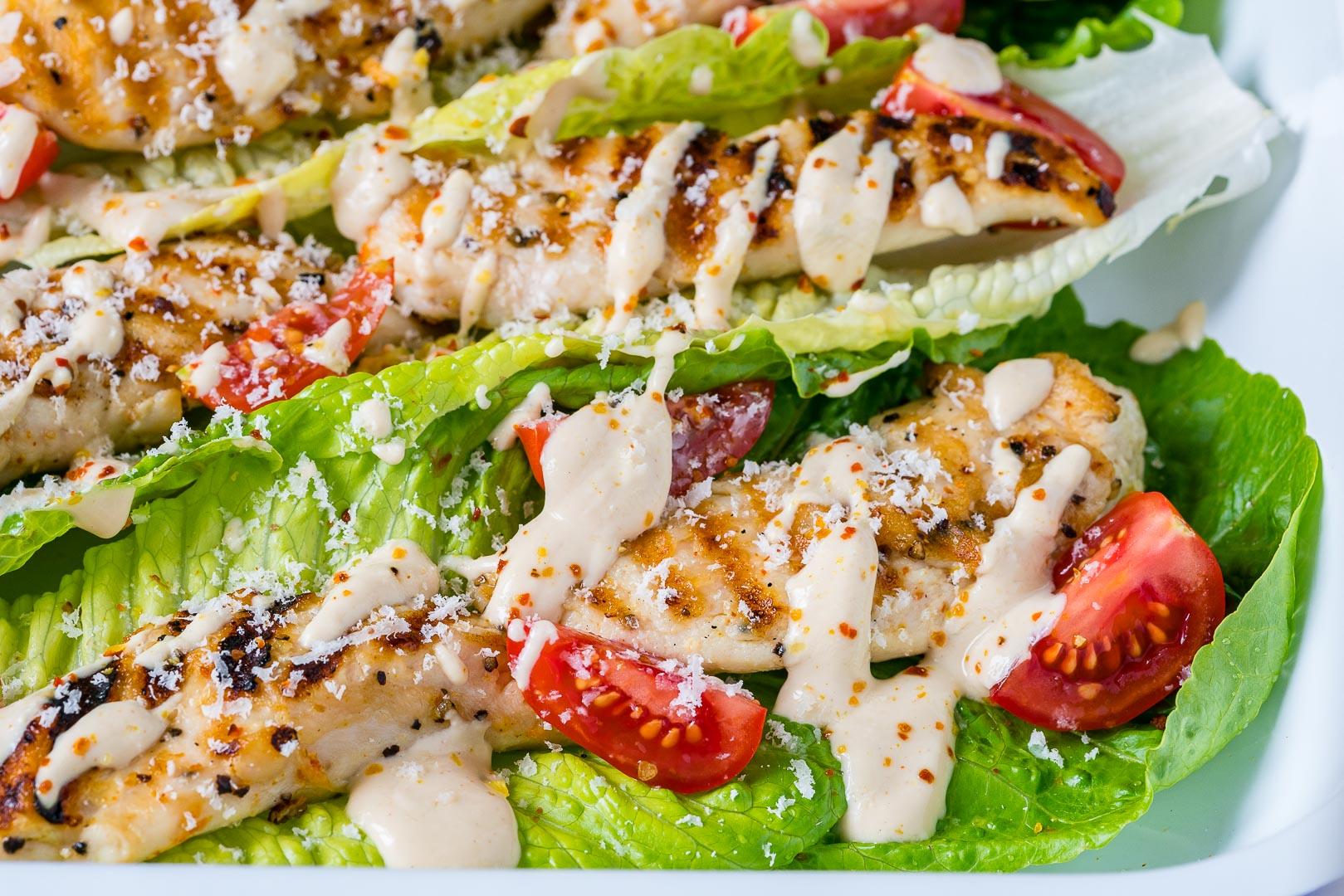 Grilled Chicken Caesar Wraps CleanFoodCrush Recipe