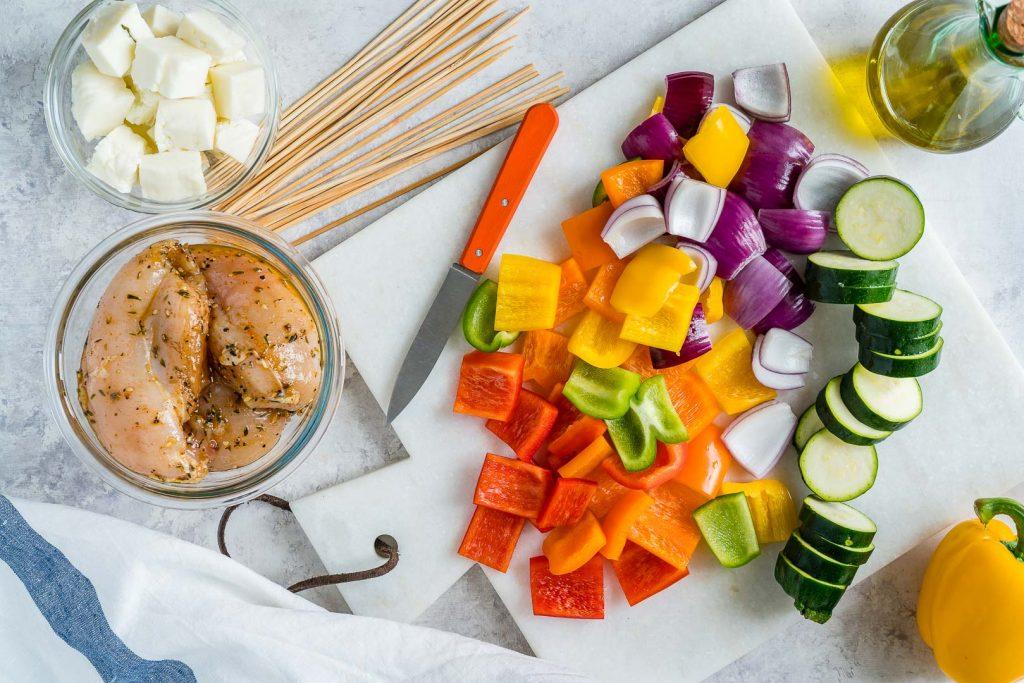 Special Grilled Chicken Veggie Kabobs