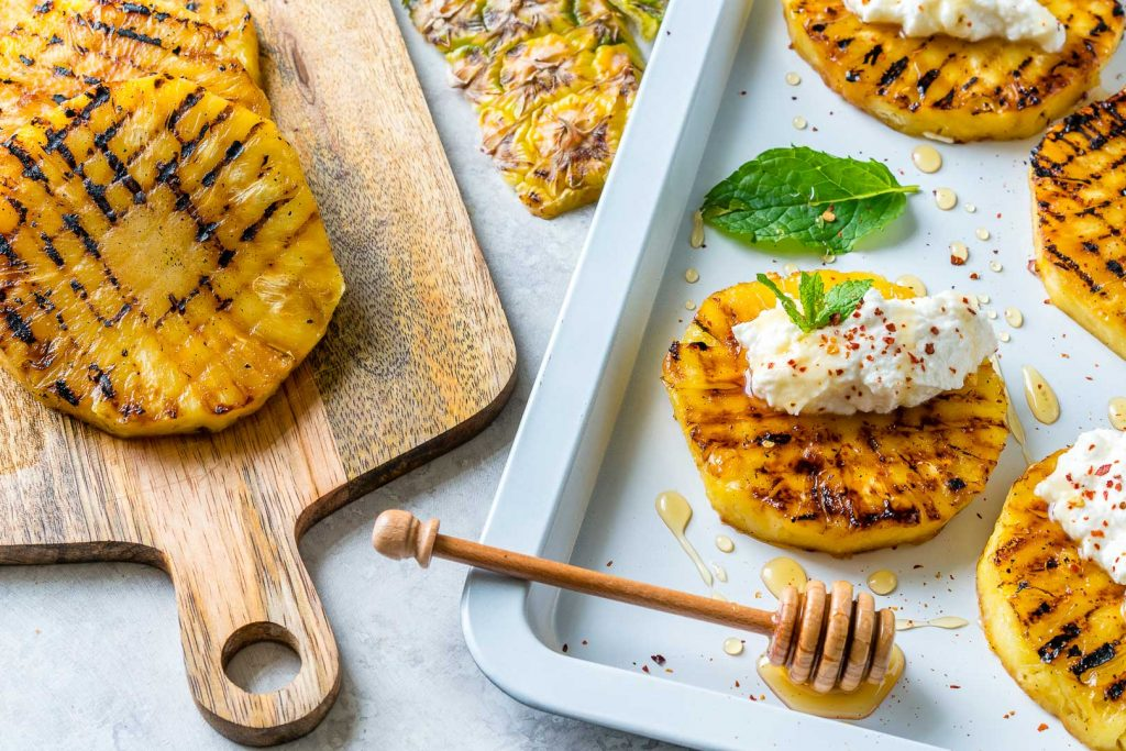 Grilled Pineapple with Ricotta Honey Cooking Guide