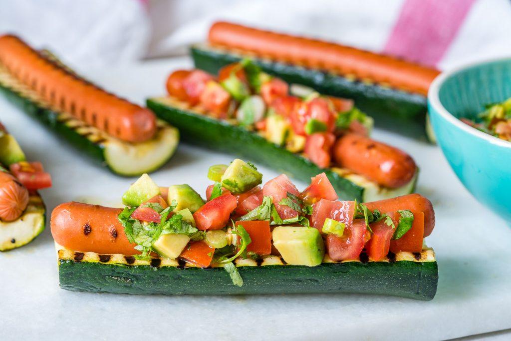 Grilled Zucchini Hot Dog Boats Recipe