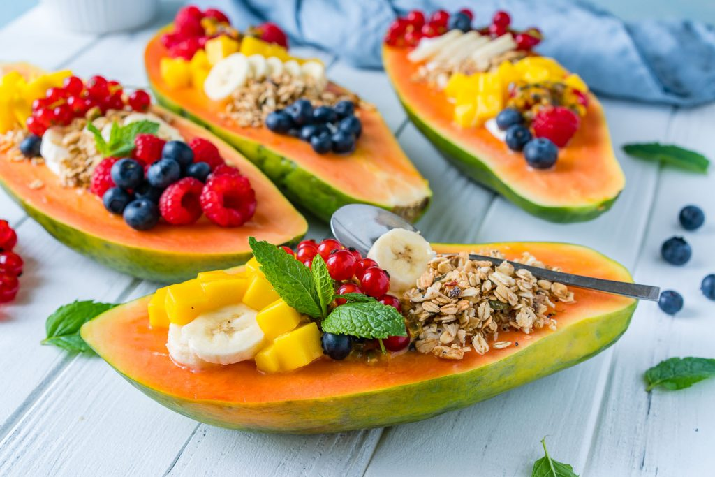 Healthy Breakfast Papaya Boats